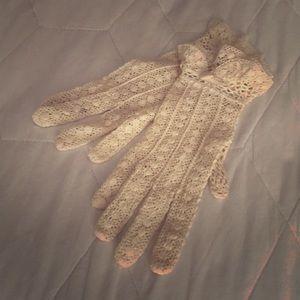 1970s Crochet Gloves